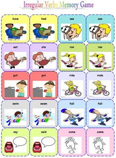 irregular verbs memory game (part 2) -by Anastasia krasanaki
