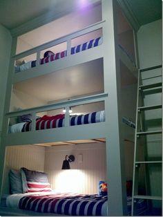 Cute triple bunk
