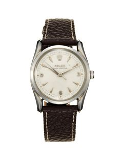 "Rolex Stainless-Steel Oyster Perpetual Chronometer ""Bombé"" (c. late 1940s-early 1950s) by Vintage Watches on Park & Bond"