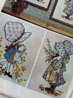1973 Holly Hobbie Simplicity Embroidery Pattern by LadyLindaLou...I love Holly Hobbie!!