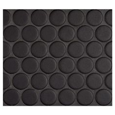 """Complete Tile Collection Penny Round Mosaic - Midnight Black - Matte, 1"""" Round Glazed Porcelain Penny Mosaic Tile, Anti-Microbial, Anti-Odor, Anti-Staining Technology, MI#: 063-Z1-250-051, Color: Midnight Black:"""