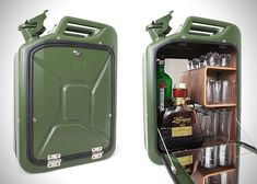 Danish Fuel Repurposed Jerry Cans #HomeBarDecor