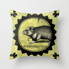 Little Hamster Throw Pillow
