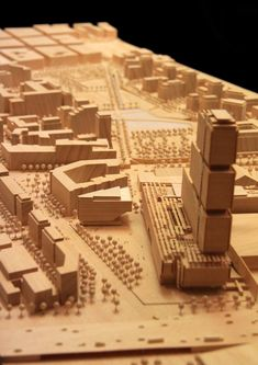 Renzo Piano Building Workshop - Projects - By Type - Maison des Avocats Wood Architecture, Chinese Architecture, Architecture Drawings, Architecture Models, Renzo Piano, Landscape Model, Arch Model, Diy Design, Urban Design