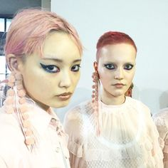 The Head-Turning Hair Moment in Milan That Has Us Thinking Pink  lina hoss