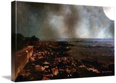 """Storm-Bruised Sky"" ~ © 2016 RC deWinter It's a wild and windy night as a summer storm blows into Lake Superior at Pictured Rocks National Lakeshore, Michigan. Shown here as a 19"" x 32"" canvas. Available in a variety of media, sizes and configurations."