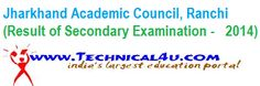 JAC Jharkhand Class 10th Results 2014