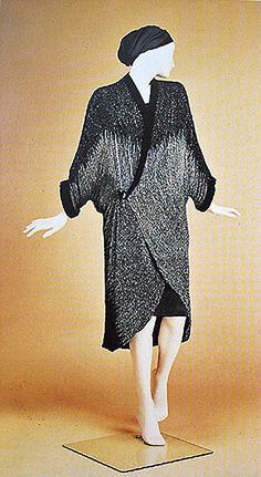 1924 Paul Poiret Haute-Couture Rare Ombre Beaded Flapper Cocoon Evening Coat