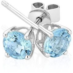 Reeds Aquamarine Stud Earrings ($161) ❤ liked on Polyvore featuring jewelry, earrings, accessories, 29. earrings., aquamarine jewelry, aquamarine stud earrings, blue stud earrings, reeds jewelers and stud earrings