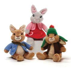 "Nickelodeon's Benjamin Bunny Peter Rabbit and Lily Bobtail Beanbag Plush Complete 3 Piece Set Made By Gund. Set includes Peter Rabbit, Benjamin Bunny and Lily Bobtail. Each beanbag is approx 5"" tall."
