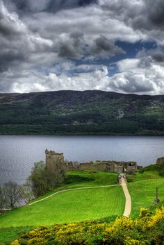 The magnificently situated Urquhart Castle on the banks of Loch Ness ~ remains an impressive stronghold despite its ruinous state Scotland by theague