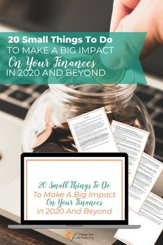 Ready to make a huge impact on your finances for 2020 and beyond? Use this checklist of 20 small things you can do to change your finances for the better! Get started today & start reaching your financial goals this year! Budgeting Finances, Budgeting Tips, Ways To Save Money, Money Saving Tips, Paying Off Student Loans, Financial Goals, Financial Planning, Paying Off Credit Cards, Budget Planer