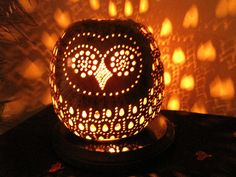 Shop for lamp on Etsy, the place to express your creativity through the buying and selling of handmade and vintage goods. Gourd Crafts, Gourds Birdhouse, Gourd Lamp, Craft Corner, Stained Glass Art, Lamp Design, Design Crafts, Fun Projects, Mosaics