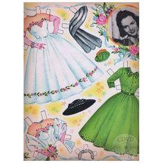 1953 Debbie Reynolds paper doll clothes / cdvdmart.com