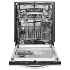 KitchenAid Architect Series II Top Control Dishwasher in Stainless Steel with Stainless Steel Tub, Ultra-Fine Filter, 43 - The Home Depot Kitchenaid Dishwasher, Best Dishwasher, Black Dishwasher, Built In Dishwasher, Stainless Steel Dishwasher, Black Stainless Steel, Samsung Dishwasher, Houses, Kitchenaid