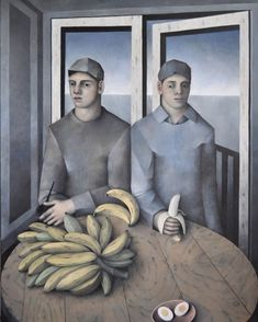 "BEAU-TRAPS on Instagram: ""James Mortimer, Interior with Bananas, 2014 c/o @lewisdaltongilbert #jamesmortimer #painting #portrait #banana"""