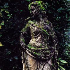 For the Garden.  My grandmother had similar statutes in her garden (each one represented a different season).