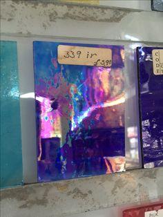 iridescent blue glass