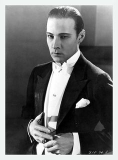 "Rudolph Valentino was an Italian actor, known simply as ""Valentino"" and also an early pop icon. A sex symbol of the 1920s, Valentino was known as the ""Latin Lover""."