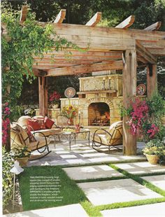 rustic patios - Google Search
