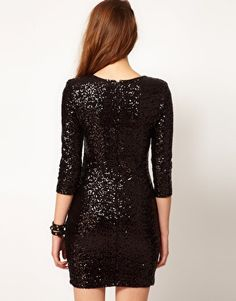 Enlarge TFNC Sequin Dress with Long Sleeves