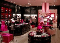 want my vanity and dressing room to look like a victoria's secret store set up/display and the black, pink, and white colors