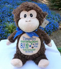 Monogrammed baby gift personalized embroidered cubbies elephant monogrammed baby gift new baby gift personalized embroidered baby blanket monkey personalized by world class embroidery negle Gallery
