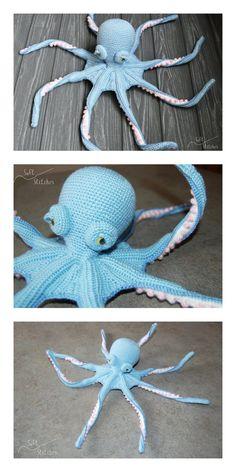 Crochet Fish, Crochet Animals, Crochet Toys, Free Crochet, Crochet Ideas, Crochet Projects, Crochet Patterns, Amigurumi Doll, Amigurumi Patterns