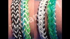 New FlipSide Bracelet - Rainbow Loom - Easy Beginner Level - Reversible- Crazy Loom, Bandaloom - YouTube