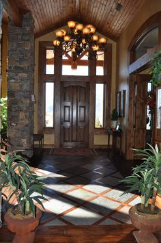 Ahhh...to have a foyer like this...