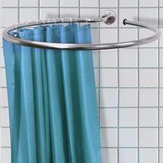 LOOP - Stainless Steel Circular Shower Rail and Curtain Rings