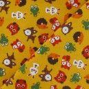 Tissu velours milleraies Friendly forest safran x 10cm - Ma Petite Mercerie