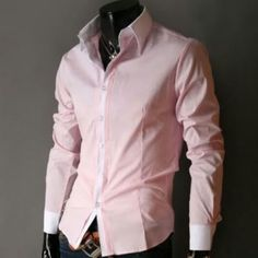 """Men's Casual Shirts Sale Buy direct now and get OFF instantly! Material : Polyester / Cotton Blend Color : Pink / Black , Gray Size : Small, Medium Small Shoulder : Chest : 35 to Sleeve : 22 to Medium Shoulder : Chest """" 38 to Sleeve : 23 to Casual Shirts For Men, Men Casual, Smart Casual, Stylish Men, Casual Wear, Pinterest For Men, Latest Mens Fashion, Men's Fashion, Fashion Group"""