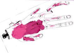 The Alien Left Hand - Muji 0,38 Black    - Hugo CHAFFIOTTE    http://disconnectedbrain.tumblr.com