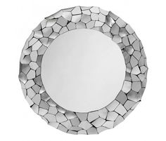 Smooth stainless steel shards mirror.