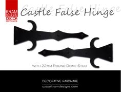 Castle False Hinges with Small 22mm Dome Round Studs from Kram Designs Decor Hardware. www.kramdesigns.co.za