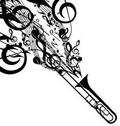tattoos with trombone | Trombone Tattoo