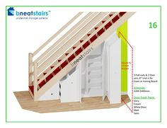 Under Stairs Storage Systems - Under Stair Space Solutions from Bneatstairs - New Ideas Diy Understairs Storage, Attic Storage, Corner Storage, Hidden Storage, Under Stairs Storage Solutions, Storage Under Stairs, Staircase Storage, Under Stairs Cupboard, Kitchen Cabinets Under Stairs