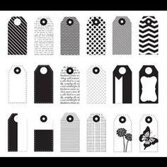 Mini Paper Tags - Black & White