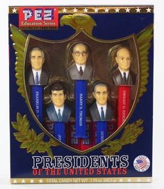 Presidents of the United States PEZ Candy Dispensers Vol 7 1933-1969 Collectible
