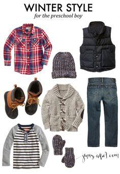 Winter Style for the Preschool Boy - how cute!
