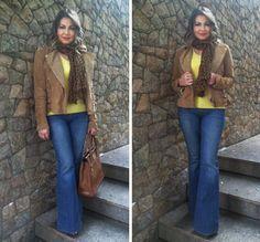 Look Casual – Jeans Flare e Onça