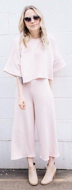 #spring #summer #fashionista #outfitideas   Blush Pant Set