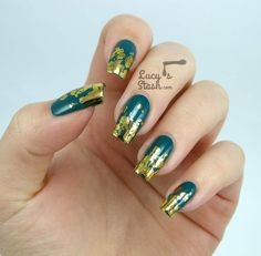 Distressed Gold Nail Foil Design by Lucy's Stash