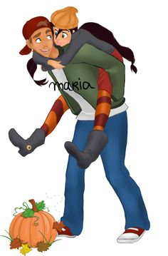 Halloween | JiMel as T.J. and Spinelli by Ribon95 on deviantART