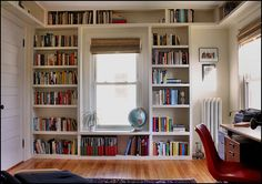 How to Build an In-built Bookcase - a Step by Step Guide Built In Shelves Living Room, Bookshelves Built In, Living Room Windows, Bookcases, Built Ins, Home Library Rooms, Home Library Design, Home Libraries, Piano Room