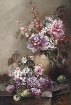 les meli melo de mamietitine - Page 7 Rose Vase, Art Story, Wonderful Flowers, Paris Art, Garden Painting, Illustrations, Renaissance Art, Pictures To Paint, Lettering