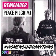 Happy birthday to Mildred Norman Ryder, mystic and peace activist known as Peace Pilgrim! In 1952, she became the first woman to walk the entire length of the Appalachian Trail in one season. She also walked across the United States more than 20 times promoting peace.  https://super.me/p/v5mK  #WomenCanDoAnything #activist #peace #mildrednorman #mildredryder #peacepilgrim #walkforpeace #usa #factoftheday #happybirthday