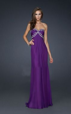 Purple Strapless Chiffon Gown For Cheap By La Femme 17148 [La Femme 17148 Purple] - $167.00 : Cheap Formal Dresses, Discounted Prom Dresses at DressesBarnCheap