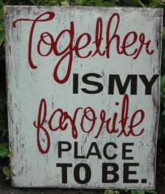 great sign to hang on gallery wall with family pictures!